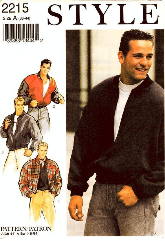 Style Jacket Pattern 2215 Mens&39 Casual Bomber by ThePatternSource