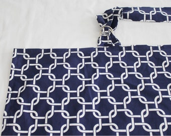 Navy Chain Link Nursing Cover