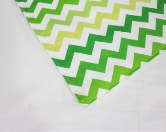 Green Chevron Waterproof Changing Pad - small