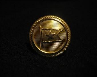 Titanic: Uniform Button Lapel Pin - White Star Line - Brass 1912