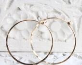 Handmade gold fill hoop earrings