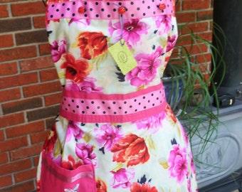 Bright Pink Floral Sunshine Apron