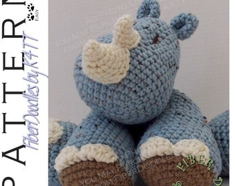INSTANT DOWNLOAD : KISS Series - Rhinoceros Crochet Pattern