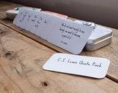 C.S. Lewis Quote Cards  - Mini Cards  - 2 x 3.5