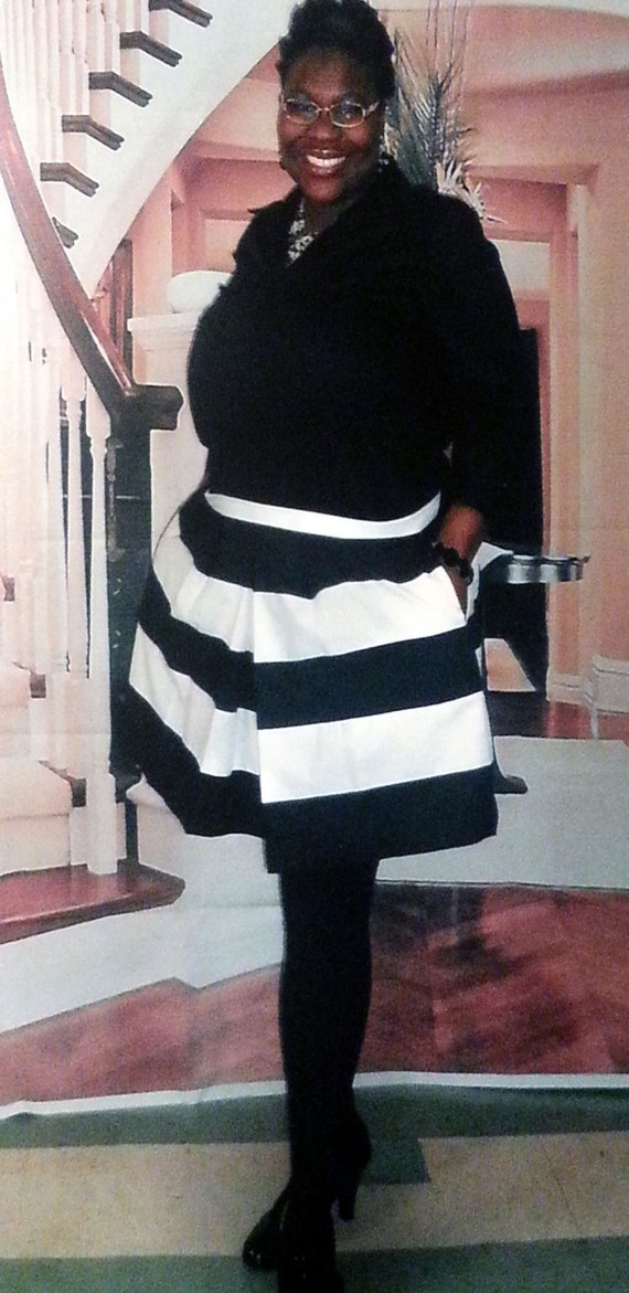 Items similar to With POCKETS - Big Striped Skirt Queen Curvy BBW ...