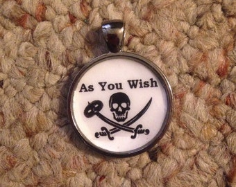 Princess Bride Themed As You Wish Pendant Necklace-FREE SHIPPING-