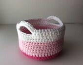 CROCHET PATTERN - Crochet Basket Pattern, Small Crochet Basket, Crochet Easter Basket Pattern, Spring Decor, Spring Crochet Pattern