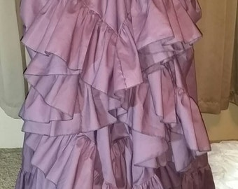 Maxi Skirt Long Plum 25 Yard Hem Wedding Formal Evening Skirt Pirate or Gypsy Petticoat Victorian Steampunk