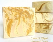 UNSCENTED Castile Silk Soap - olive oil savon with honey, yogurt and carrot - gentle face and body