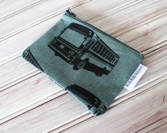 Buses Coin Purse with canvas lining