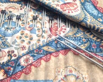 Roll Up Case Pockets Straight Single Point Knitting Needle Organizer