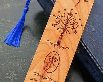 LOTR Bookmark, Wood Bookmark, Personalized Bookmark