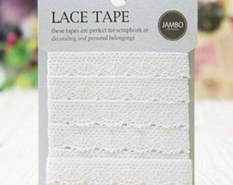 Natural Lace Adhesive Fabric Tape Ver. 2 - 02.Beige (0.5in)