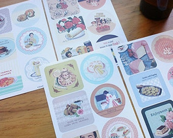 48 Design Recipe Coster Label Stickers - Vol. 3 (6.7 x 10in)