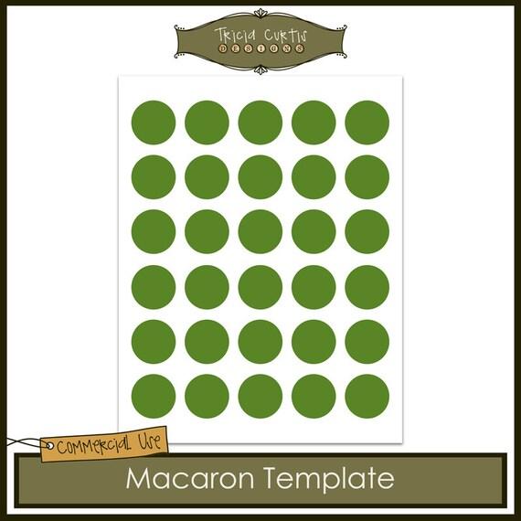 Macaron Baking Sheet Template