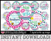 """Sweet Southern Girl - INSTANT DOWNLOAD 1"""" Bottle Cap Images 4x6 - 686"""
