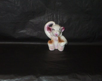 Vintage Japan Ceramic Spaghetti Trim Monkey Figurine Cute