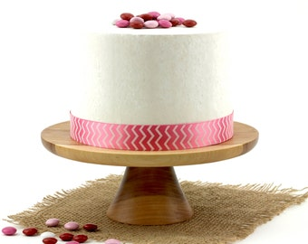 Wooden Elm Cake Stand / Pedestal Cake Plate /Cupcake Stand