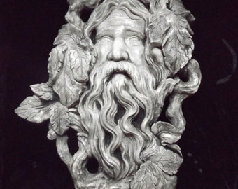 Greenman Wall Plaque Mystical Forest Man Celtic Medieval Leave Nature Indoor Home Decoration Renaissance Pagan Deity Leaf Branch Twig Face