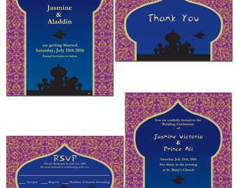 Arabian Nights Invitation, Save The Date, RSVP, or Thank You