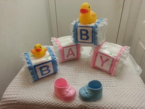 Cake Decorations Letter Blocks : Alphabet Baby Block Diaper Cake