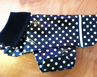 New Polka Dot Dog Rain Jacket, Dog Raincoat, Dog Rain Coat, Dog Jacket, Dog Coat, Dog Jackets