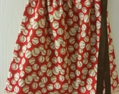 Red and Cream Baseball  Pillowcase Dress available in sizes 0-3 mon,3-6 mon,6-9 mn,12 mon,18 mon,2T,3T and 4T
