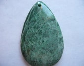 Pendant, African Jade, Gemstone, 48x30mm, Teardrop, Pkg Of 1