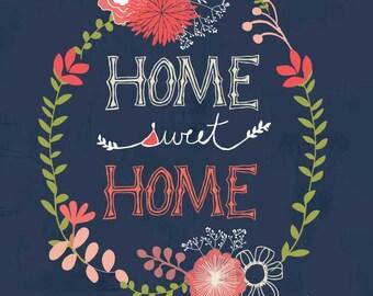 Home Sweet Home Art Print 12 x 12*