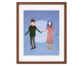 "Eternal Sunshine of the Spotless Mind print - ""Meet Me in Montauk."""