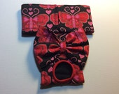 Female Dog Diaper - Dog Panties - Britches -Valentine Butterflies - Available in All Sizes