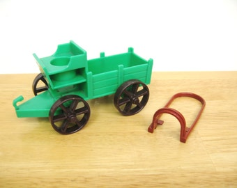 Vintage Fisher Price Western Town Buckboard and Harness