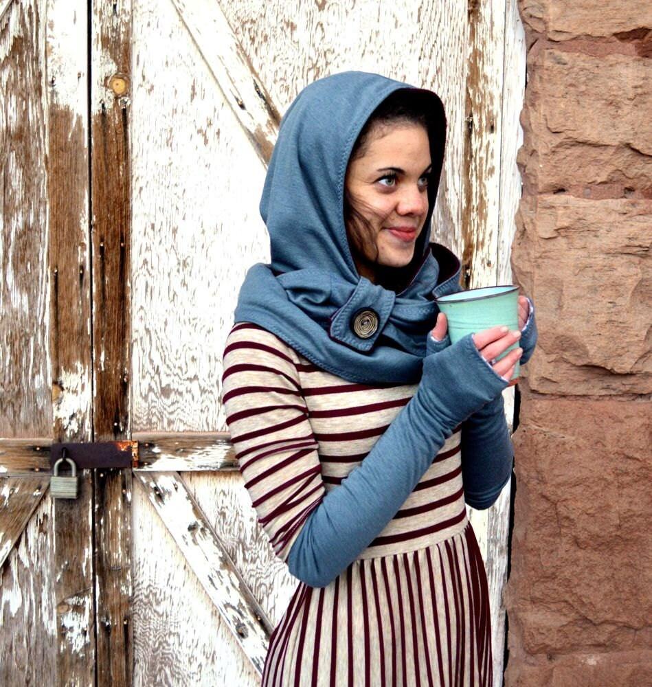 Women's Hooded Infinity Scarf Pattern, Fleece Hoodie ...