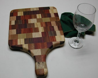 Two Sided Wooden Cutting Board - Distinctly Different Kitchen Decor - Makes a Great Gift