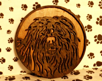 Bergamasco Portrait Handmade Wooden Fretwork by dogWoodbyDave on Etsy