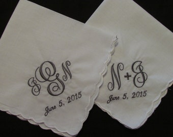 Women's Personalized Hankerchief with special date added