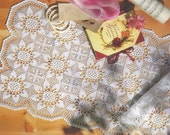 Crocheted Table Runner - Narcissus free shipping