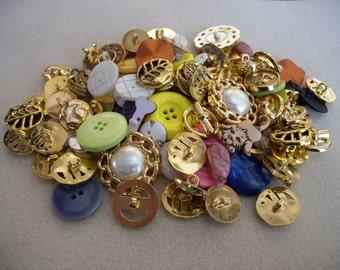 Big Button Blowout - 99 Pieces Destash