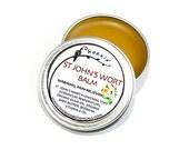 St. John's Wort Balm - healing salve - organic wildcrafted salve - 1/2 oz tin