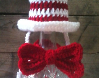 Pet Top hat and Bow (dog, cat, rabbit, goat), Made to order