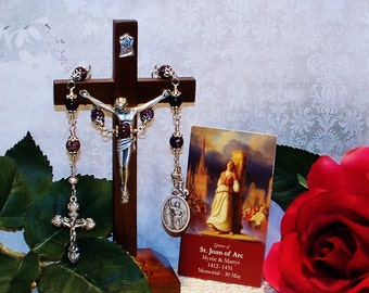 Unbreakable Catholic Novena Chaplet of St. Joan of Arc - Patron Saint of WACS, WAVES, Soldiers, Rape Victims and France