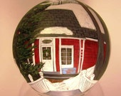 Custom Hand Painted  Glass Ornaments - Cabins, lake houses, churches, vacation homes...etc.