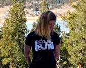 Women's Soulrun T-shirt - Size Medium - Black