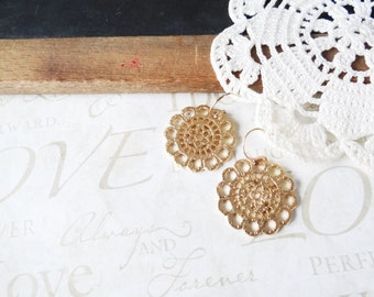SUN ornate lacey diamond shaped drop earrings A16   statement earrings   dangle   gold   carved   unique   goth   dark