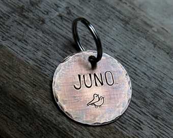 "Custom Dog ID Tag / Pet ID Tag -  1.25"" Bronze - Customize the Font & Stamp"