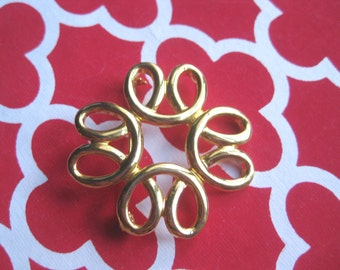 Fashion Jewelry INFINITY  Gold Tone Loop Brooch - Modern - Gold Tone Brooch #freeshipping FREE SHIPPING