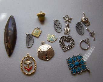 15 Pieces Charms Pendants for Repurposing