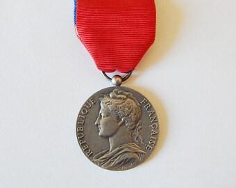 vintage french medal service medal