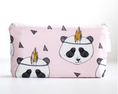 Panda Baby wet bag.  Waterproof bag for mummas  or cosmetic bags for anyone!