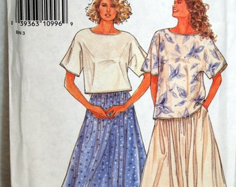 Simplicity Sewing Pattern 7141 Size 8 - 20 Misses Top and Skirt